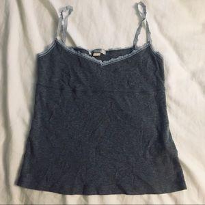 gray flowy lace cami